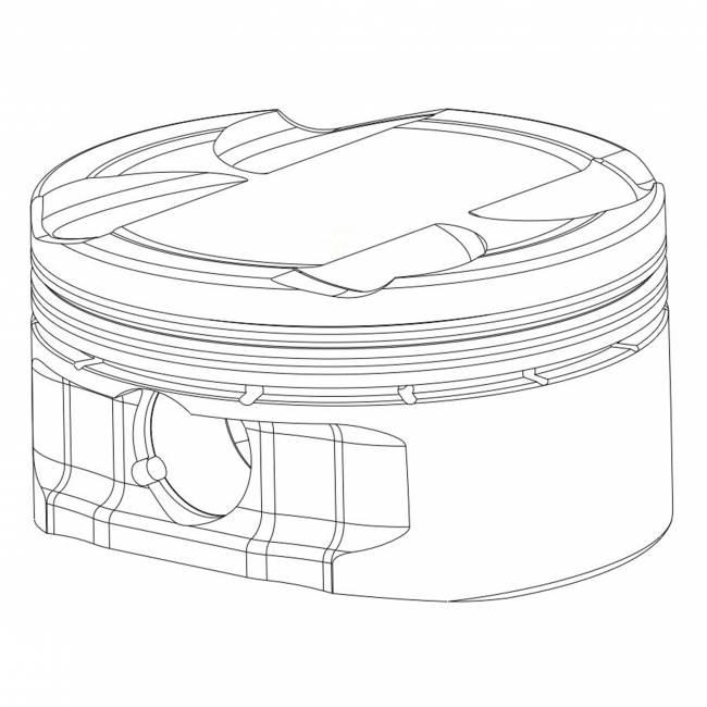 2012-2018 Kawasaki ZX14 Piston Kit
